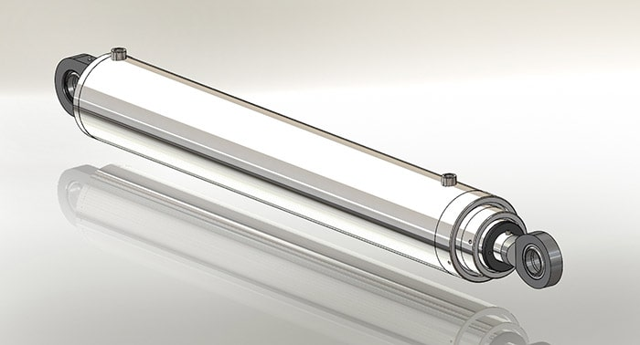 multi stage double acting hydraulic cylinder