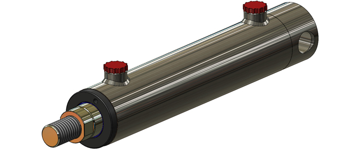 rear pin mounted hydraulic cylinder side image