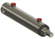 rear pin mounted hydraulic cylinder