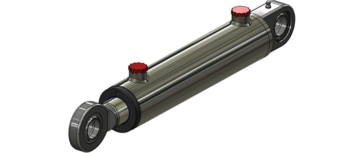 welded spherical bearing mounted hydraulic cylinder side image