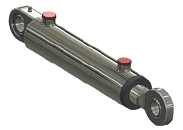 welded spherical bearing mounted hydraulic cylinder