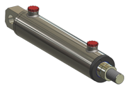 rear clevis mounted hydraulic cylinder